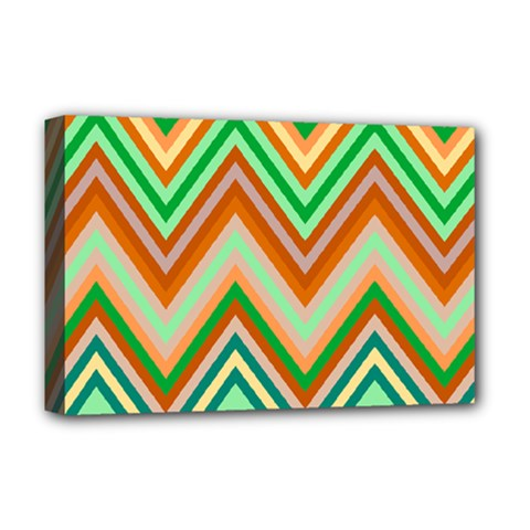 Chevron Wave Color Rainbow Triangle Waves Deluxe Canvas 18  X 12