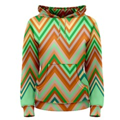 Chevron Wave Color Rainbow Triangle Waves Women s Pullover Hoodie