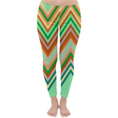 Chevron Wave Color Rainbow Triangle Waves Classic Winter Leggings