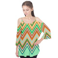 Chevron Wave Color Rainbow Triangle Waves Flutter Tees by Alisyart