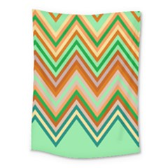 Chevron Wave Color Rainbow Triangle Waves Medium Tapestry by Alisyart