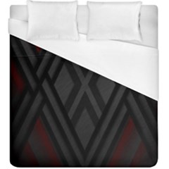 Abstract Dark Simple Red Duvet Cover (king Size)