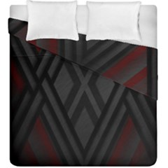Abstract Dark Simple Red Duvet Cover Double Side (king Size) by Simbadda