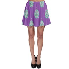 Disco Ball Wallpaper Retina Purple Light Skater Skirt