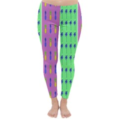 Eye Coconut Palms Lips Pineapple Pink Green Red Yellow Classic Winter Leggings