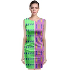 Eye Coconut Palms Lips Pineapple Pink Green Red Yellow Classic Sleeveless Midi Dress