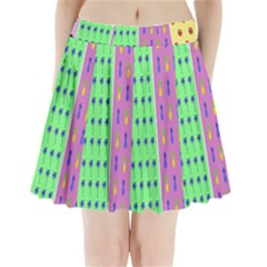 Eye Coconut Palms Lips Pineapple Pink Green Red Yellow Pleated Mini Skirt by Alisyart