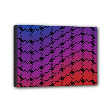 Colorful Red & Blue Gradient Background Mini Canvas 7  X 5  by Simbadda