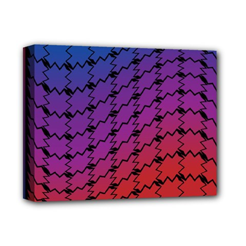 Colorful Red & Blue Gradient Background Deluxe Canvas 14  X 11  by Simbadda