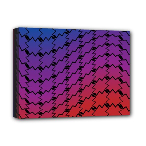 Colorful Red & Blue Gradient Background Deluxe Canvas 16  X 12