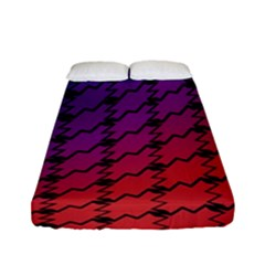 Colorful Red & Blue Gradient Background Fitted Sheet (full/ Double Size) by Simbadda
