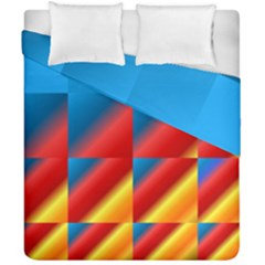 Gradient Map Filter Pack Table Duvet Cover Double Side (california King Size) by Simbadda