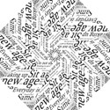 Abstract Minimalistic Text Typography Grayscale Focused Into Newspaper Golf Umbrellas View1
