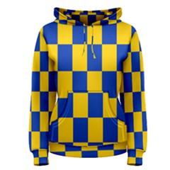 Flag Plaid Blue Yellow Women s Pullover Hoodie