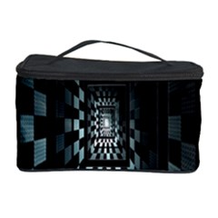 Optical Illusion Square Abstract Geometry Cosmetic Storage Case by Simbadda