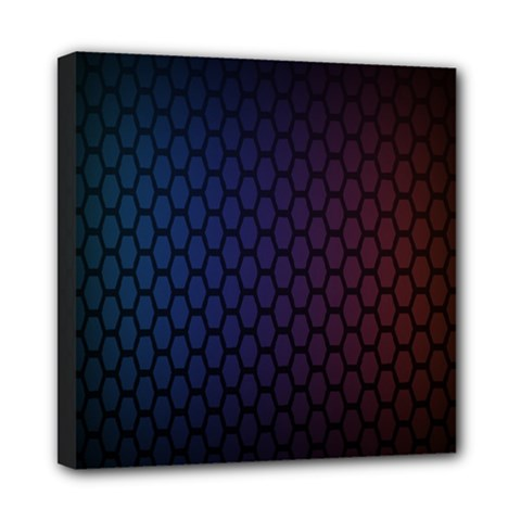 Hexagon Colorful Pattern Gradient Honeycombs Mini Canvas 8  X 8