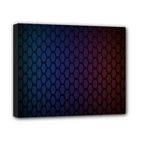 Hexagon Colorful Pattern Gradient Honeycombs Canvas 10  X 8  by Simbadda