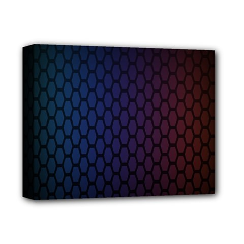 Hexagon Colorful Pattern Gradient Honeycombs Deluxe Canvas 14  X 11  by Simbadda