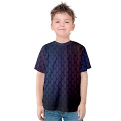 Hexagon Colorful Pattern Gradient Honeycombs Kids  Cotton Tee