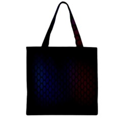 Hexagon Colorful Pattern Gradient Honeycombs Zipper Grocery Tote Bag by Simbadda