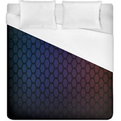 Hexagon Colorful Pattern Gradient Honeycombs Duvet Cover (king Size) by Simbadda