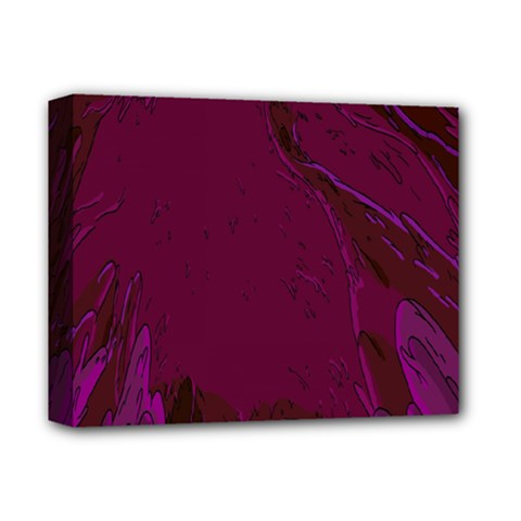 Abstract Purple Pattern Deluxe Canvas 14  X 11  by Simbadda