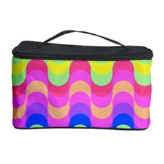 Dna Early Childhood Wave Chevron Woves Rainbow Cosmetic Storage Case by Alisyart