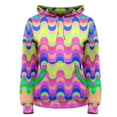 Dna Early Childhood Wave Chevron Woves Rainbow Women s Pullover Hoodie