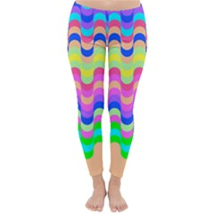 Dna Early Childhood Wave Chevron Woves Rainbow Classic Winter Leggings