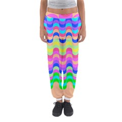 Dna Early Childhood Wave Chevron Woves Rainbow Women s Jogger Sweatpants