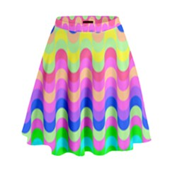 Dna Early Childhood Wave Chevron Woves Rainbow High Waist Skirt by Alisyart