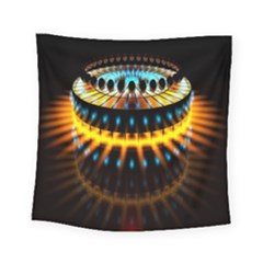 Abstract Led Lights Square Tapestry (small) by Simbadda