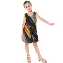 Abstract 3d Kids  Sleeveless Dress by Simbadda