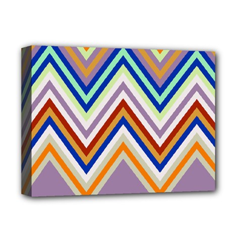 Chevron Wave Color Rainbow Triangle Waves Grey Deluxe Canvas 16  X 12