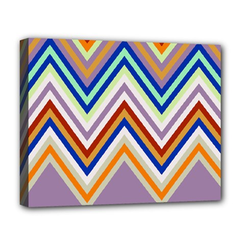 Chevron Wave Color Rainbow Triangle Waves Grey Deluxe Canvas 20  X 16