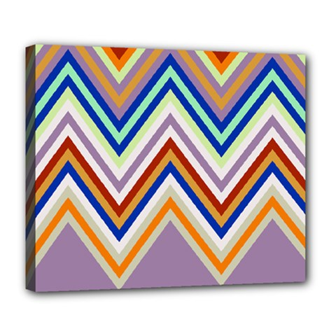 Chevron Wave Color Rainbow Triangle Waves Grey Deluxe Canvas 24  X 20