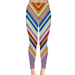 Chevron Wave Color Rainbow Triangle Waves Grey Leggings