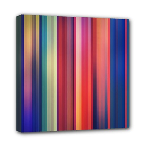 Texture Lines Vertical Lines Mini Canvas 8  X 8