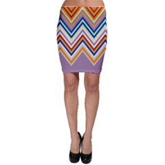 Chevron Wave Color Rainbow Triangle Waves Grey Bodycon Skirt