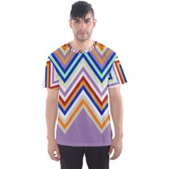 Chevron Wave Color Rainbow Triangle Waves Grey Men s Sport Mesh Tee