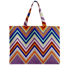 Chevron Wave Color Rainbow Triangle Waves Grey Mini Tote Bag