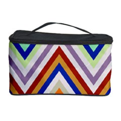 Chevron Wave Color Rainbow Triangle Waves Grey Cosmetic Storage Case