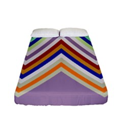 Chevron Wave Color Rainbow Triangle Waves Grey Fitted Sheet (full/ Double Size)