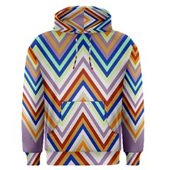Chevron Wave Color Rainbow Triangle Waves Grey Men s Pullover Hoodie