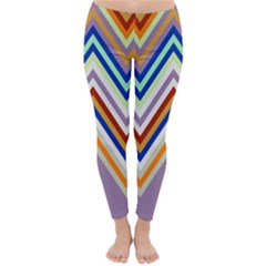 Chevron Wave Color Rainbow Triangle Waves Grey Classic Winter Leggings