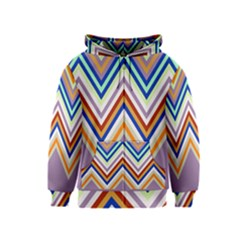 Chevron Wave Color Rainbow Triangle Waves Grey Kids  Zipper Hoodie
