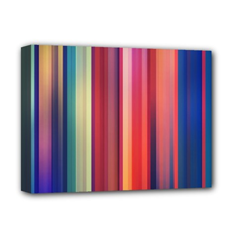 Texture Lines Vertical Lines Deluxe Canvas 16  X 12   by Simbadda