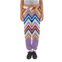 Chevron Wave Color Rainbow Triangle Waves Grey Women s Jogger Sweatpants