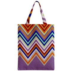Chevron Wave Color Rainbow Triangle Waves Grey Zipper Classic Tote Bag