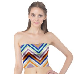 Chevron Wave Color Rainbow Triangle Waves Grey Tube Top